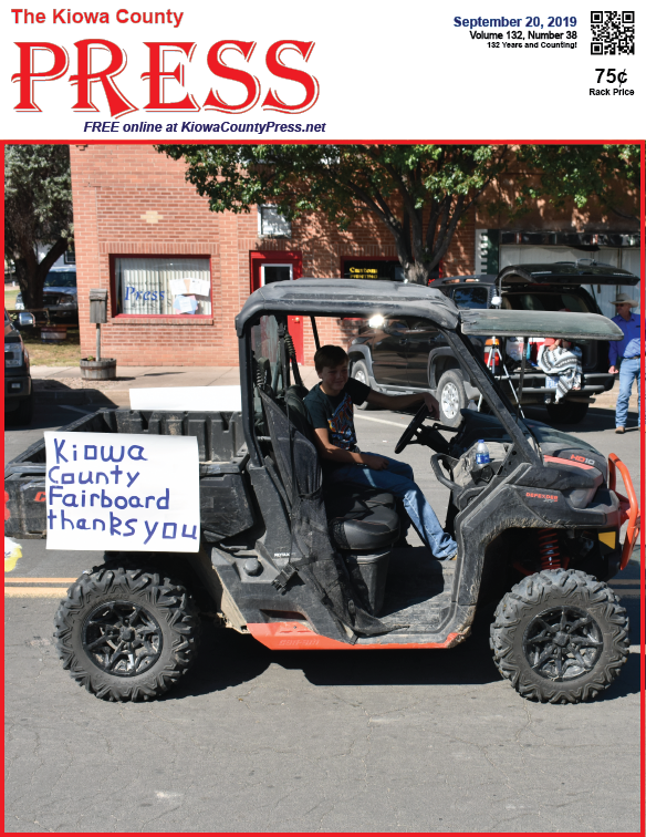 Photo of the Week - 2019-09-20 - A thank you from the Kiowa County Fair Board during the annual parade in Eads, Kiowa County, Colorado