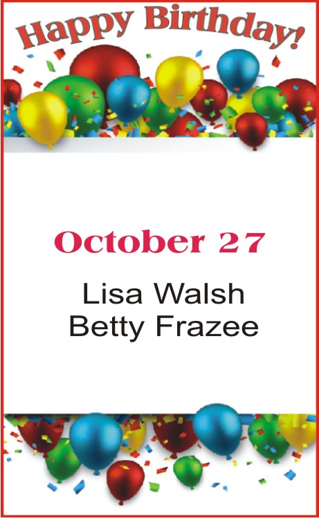 Happy Birthday to Walsh Frazee