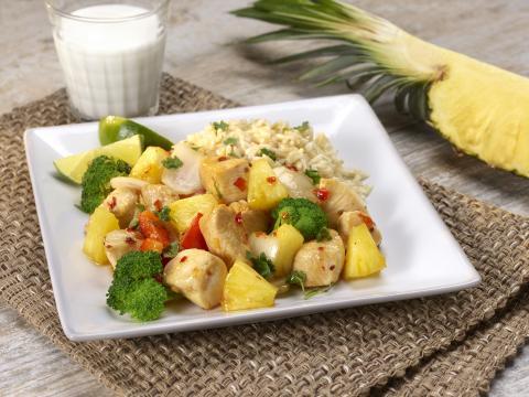 PICT RECIPE Thai Pineapple Chicken - USDA