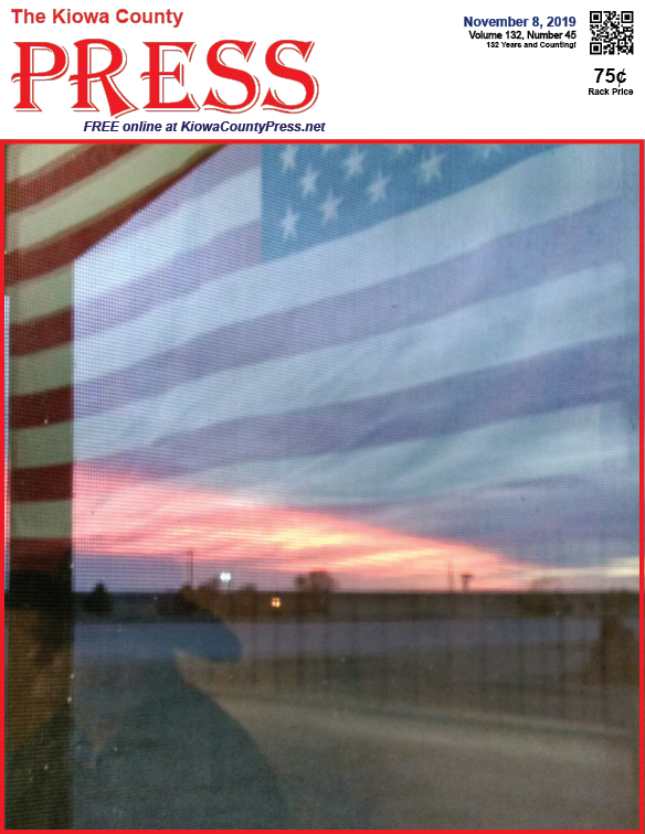 Photo of the Week - 2019-11-08 - U.S. flag reflected in a window in honor of Veterans Day