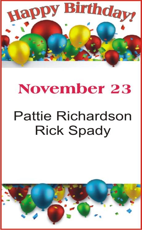 Happy Birthday to Richardson Spady