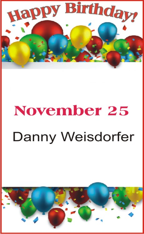 Happy Birthday to Weisdorfer