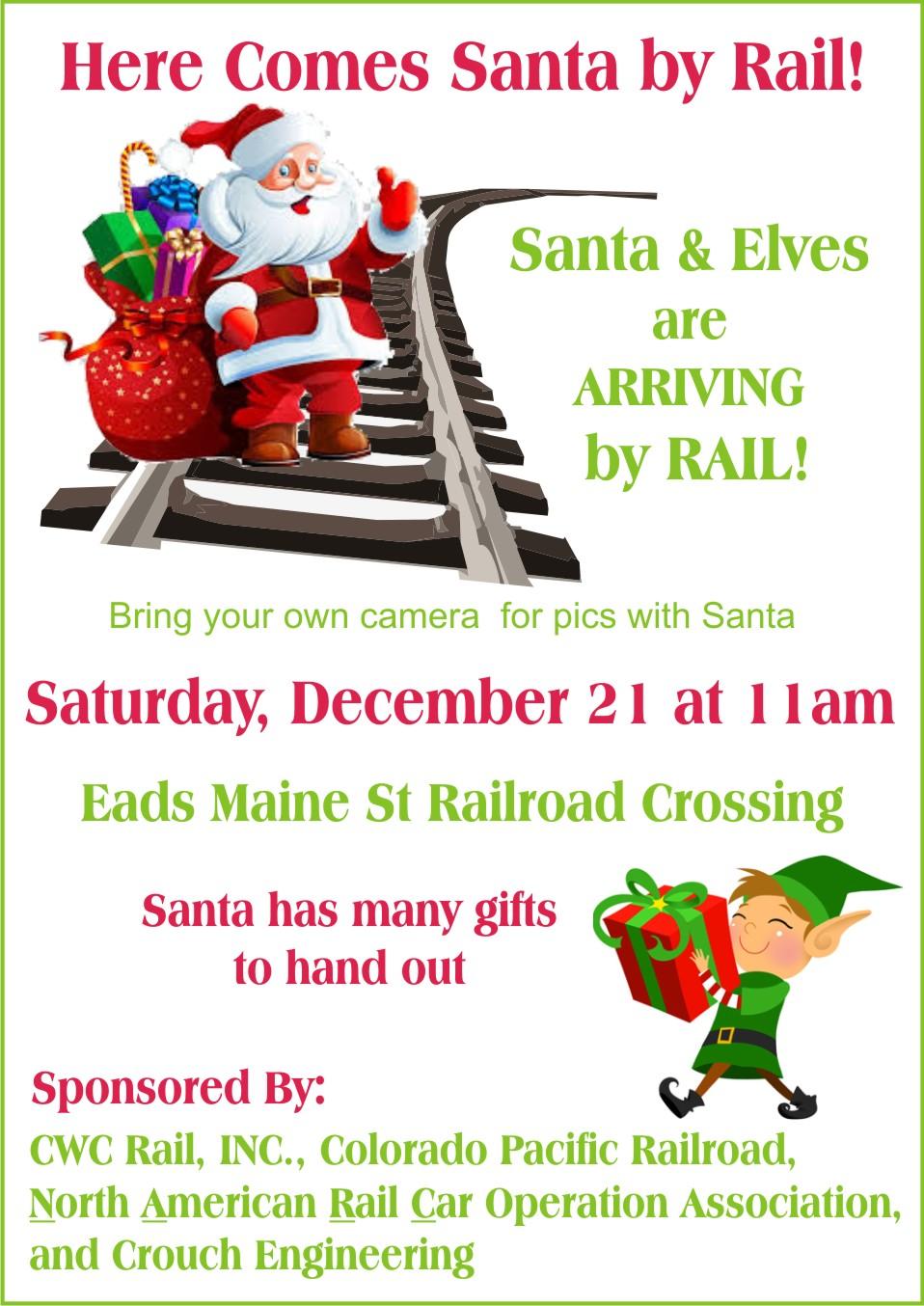 AD 2019-12 Community - Santa Arrives in Eads