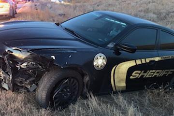 PICT Damaged Kiowa County Sheriff's car - Casey Sheridan