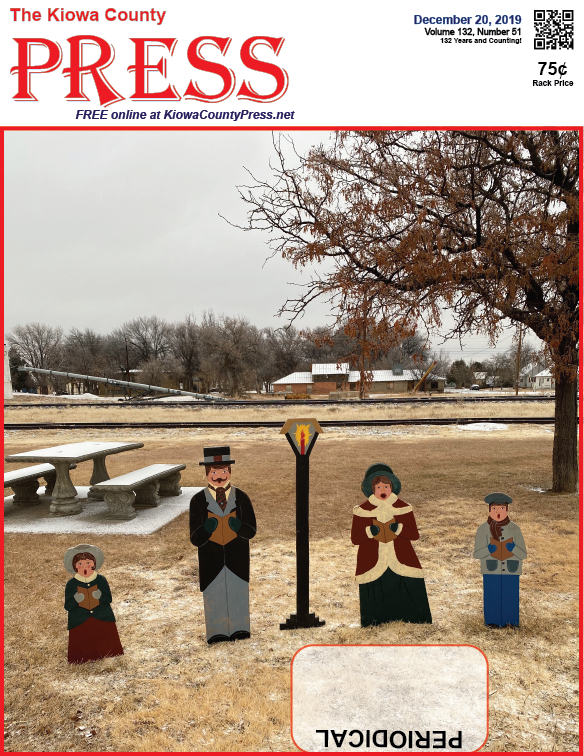 Photo of the Week - 2019-12-20 - Wooden holiday cutouts at the roadside park in Eads, Kiowa County, Colorado.
