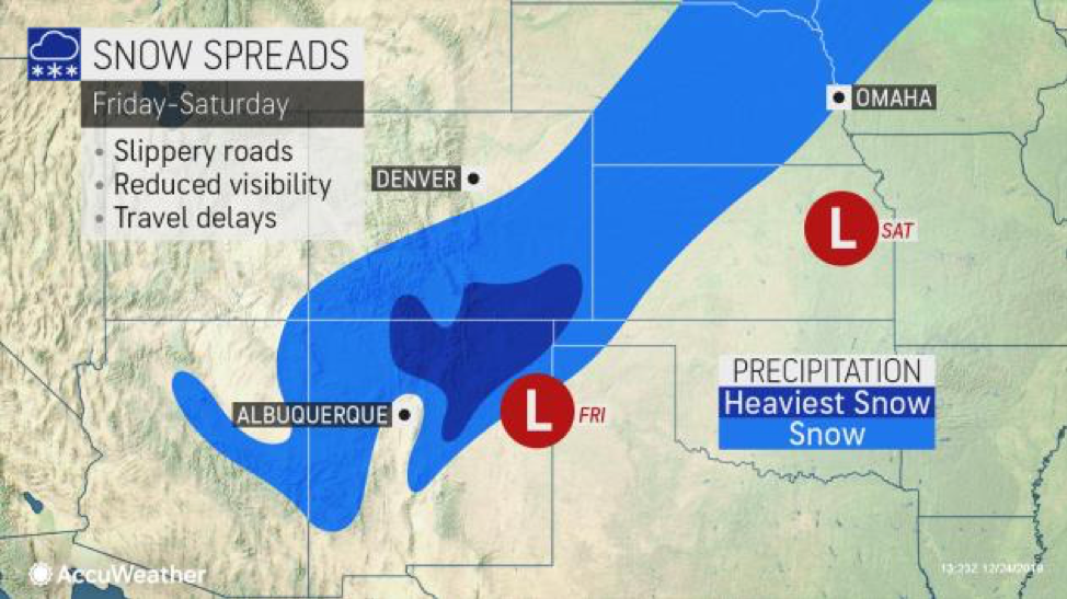 MAP Snow spreads in the western US Friday-Saturday - AccuWeather