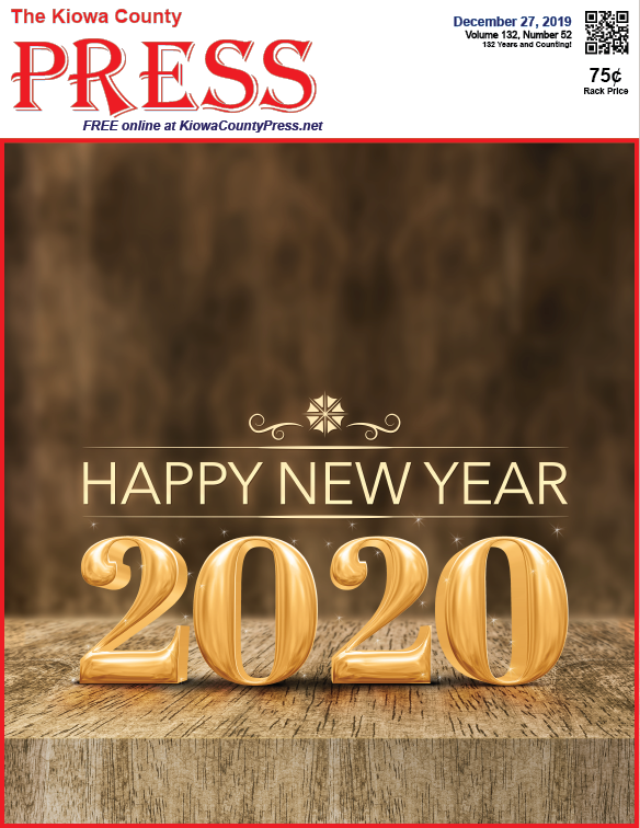 Photo of the Week - 2019-12-27 - Happy New Year from the Kiowa County Press in Eads, Colorado.