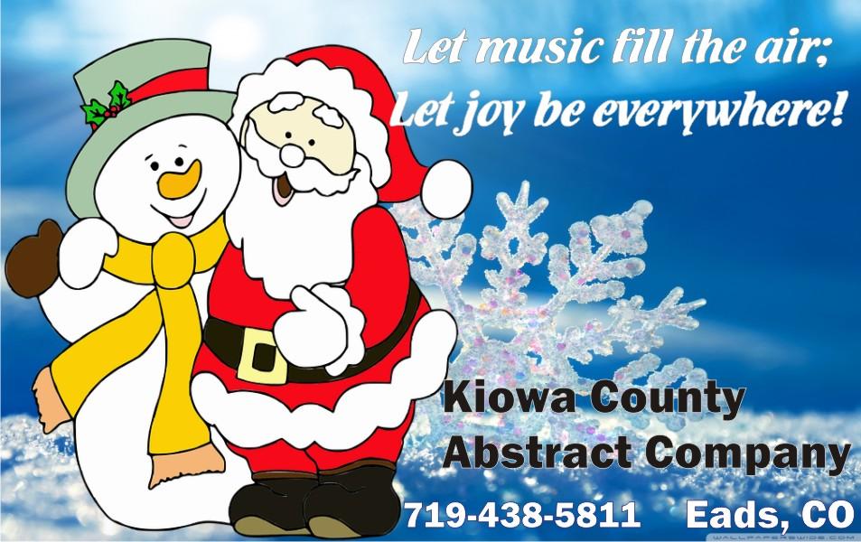 2019 Christmas - Kiowa County Abstract