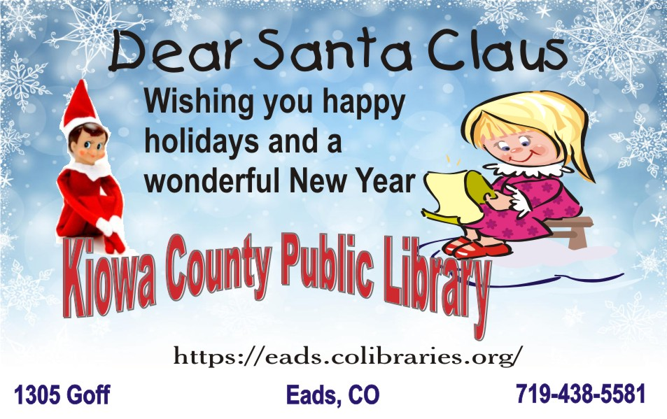 2019 Christmas - Kiowa County Library
