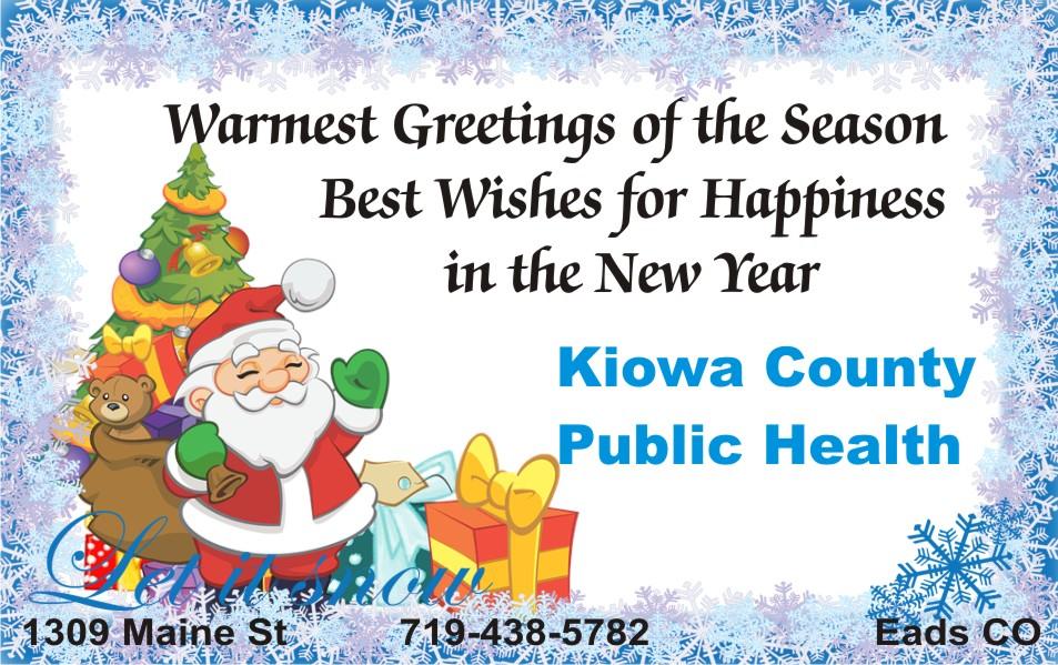 2019 Christmas - Kiowa County Public Health