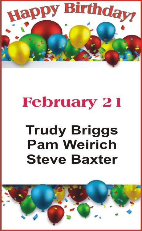 Happy birthday to Briggs Weirich Baxter