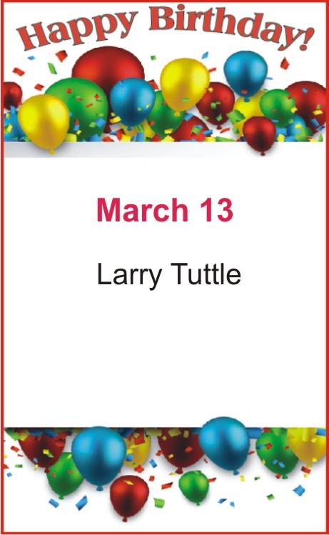 Happy birthday to Tuttle