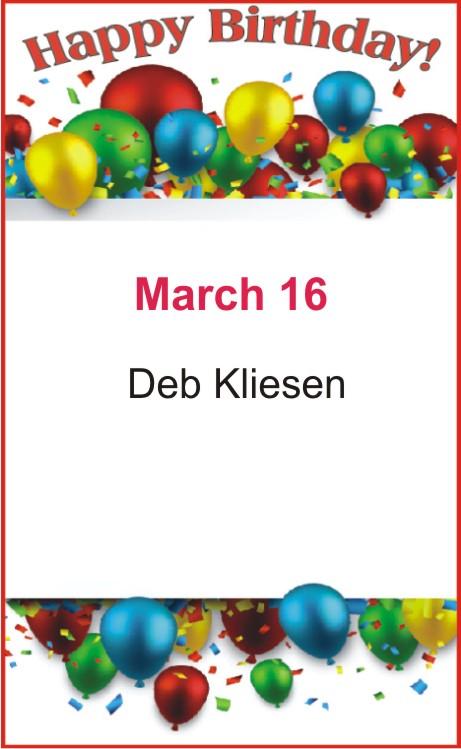 Happy birthday to Kliesen