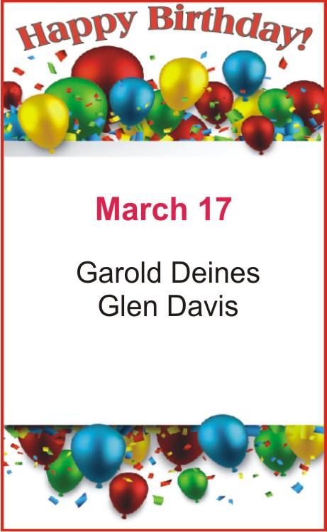 Happy birthday to Deines Davis