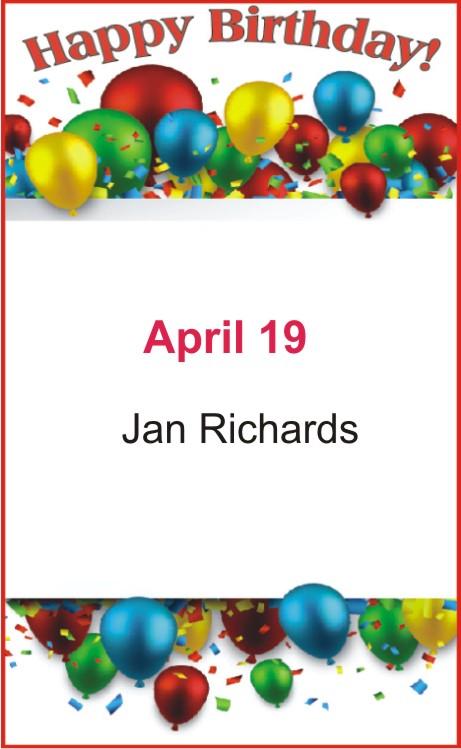 Happy Birthday to Richards