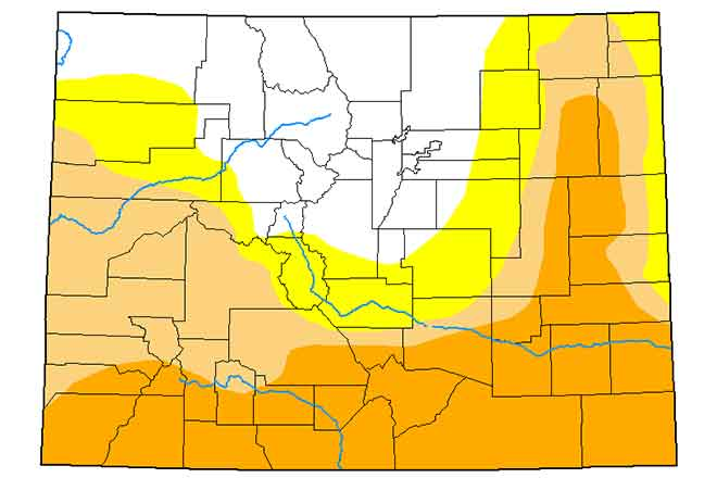 MAP Colorado Drought Conditions - April 28, 2020 - National Drought Mitigation Center