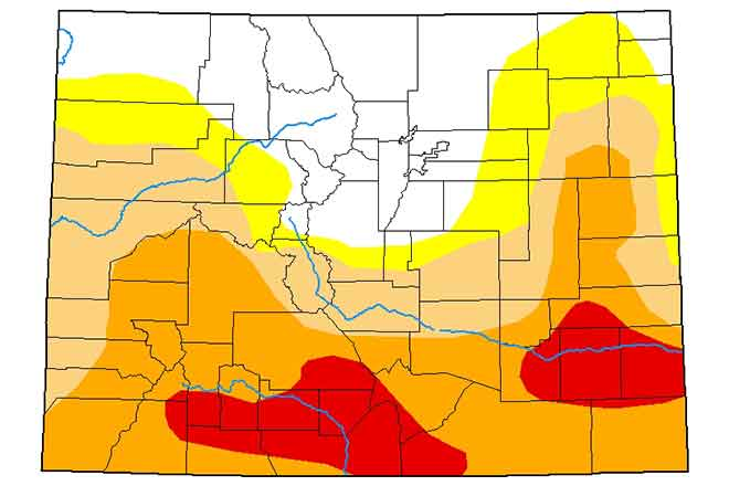 MAP Colorado Drought Conditions - May 2, 2020 - National Drought Mitigation Center
