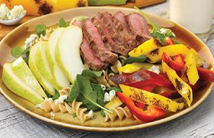 PICT RECIPE Grilled Steak and Pepper Salad - USDA