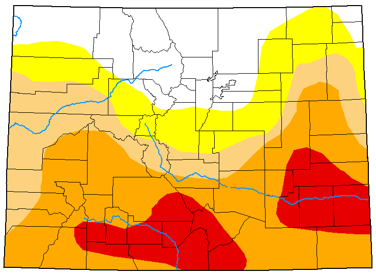 MAP Colorado Drought Conditions - May 12, 2020 - National Drought Mitigation Center