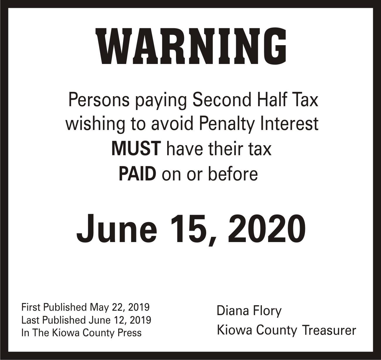 AD 2020-05 Tax Warning - Second Half Taxes