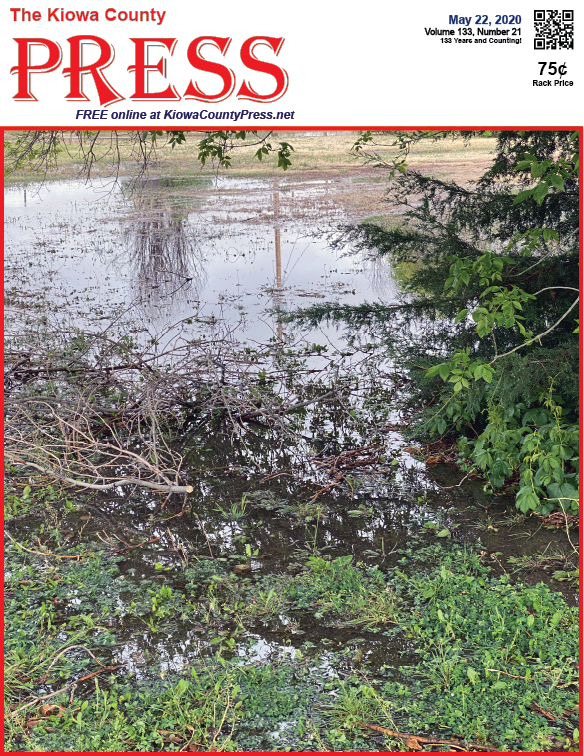 Photo of the Week - 2020-05-22 - Standing water following recent storms over Eads, Kiowa County, Colorado.