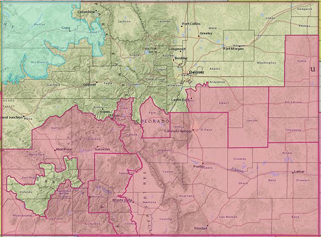 MAP Colorado weather hazards for May 23, 2020 - NWS