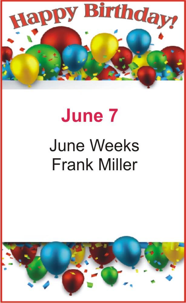 Happy birthday to Weeks Miller