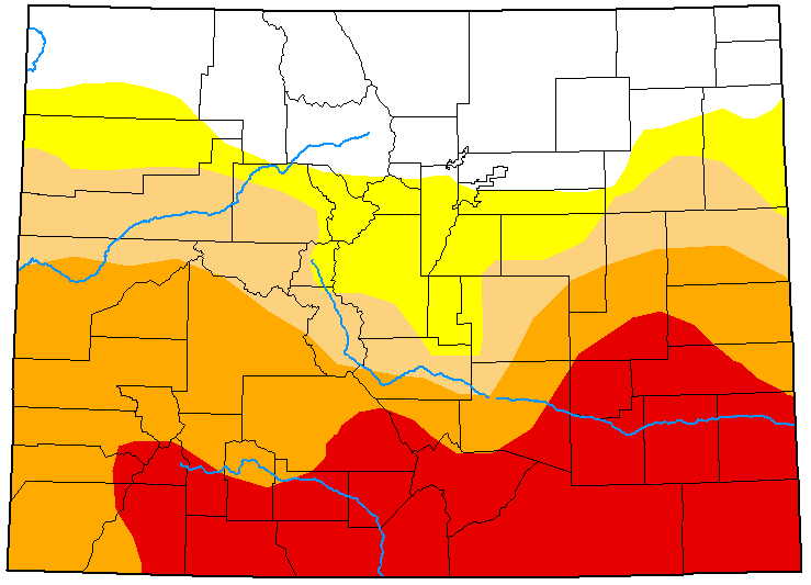 MAP Colorado Drought Conditions - June 9, 2020 - National Drought Mitigation Center
