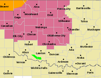 MAP Severe thunderstorm watch for northwest Oklahoma June 21, 2020 - NWS
