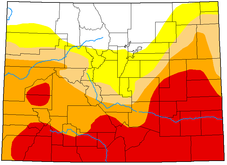 MAP Colorado Drought Conditions - June 23, 2020 - National Drought Mitigation Center