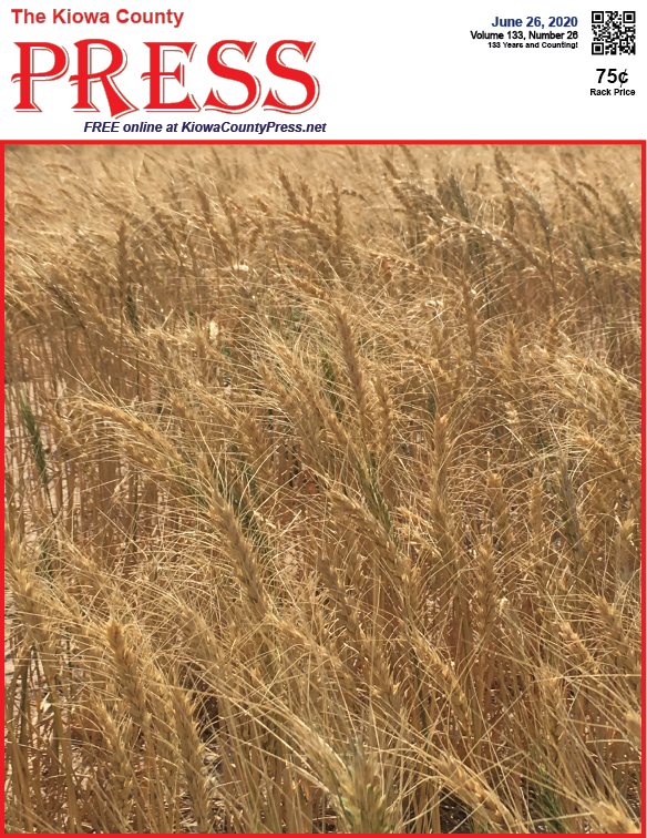 Photo of the Week - 2020-06-26 - Wheat nearly ready for harvest in Kiowa County, Colorado.