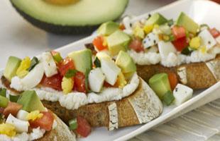 PICT RECIPE Avocado Breakfast Bruschetta - USDA
