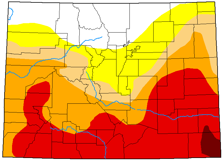 MAP Colorado Drought Conditions - June 30, 2020 - National Drought Mitigation Center
