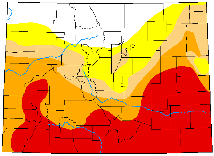 MAP Colorado Drought Conditions - July 7, 2020 - National Drought Mitigation Center