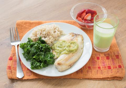 PICT RECIPE Tilapia With Tomatillo Sauce - USDA