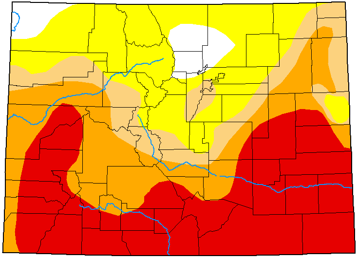 MAP Colorado Drought Conditions - July 14, 2020 - National Drought Mitigation Center