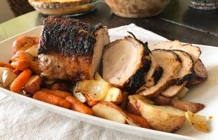 PICT RECIPE Pork Loin with Roast Vegetables - USDA