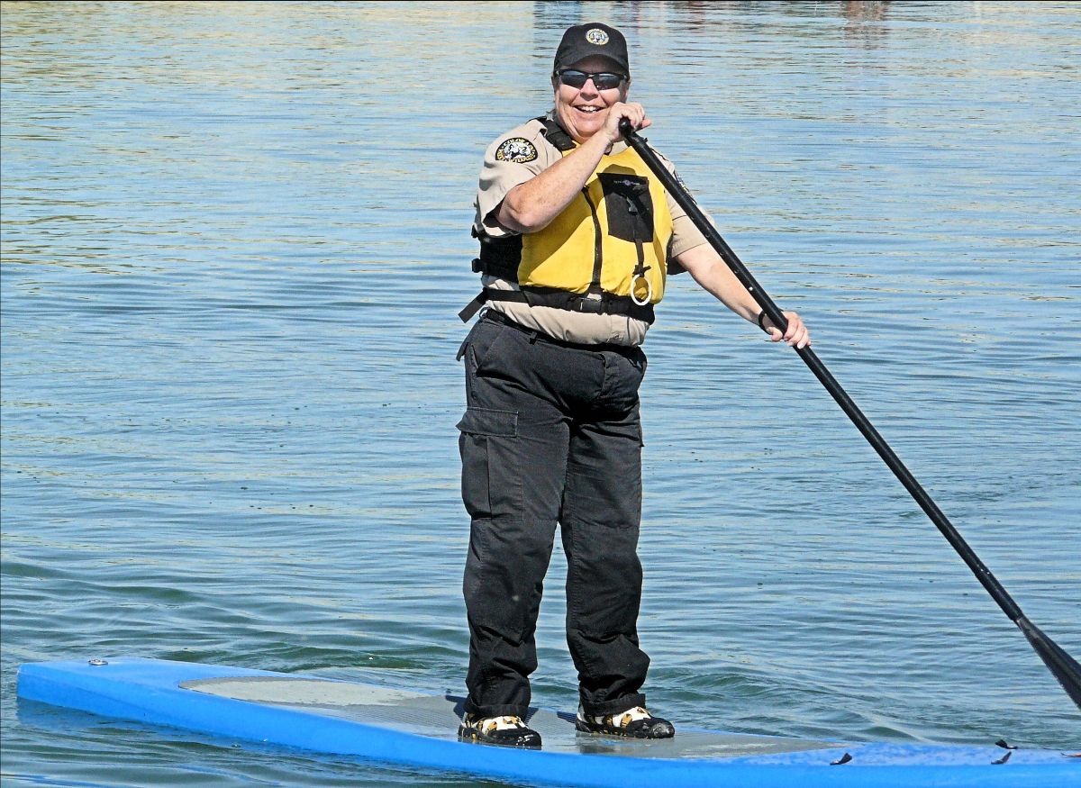 PICT Park Ranger Darcy Mount on paddleboard - CPW