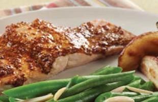 PICT RECIPE smoky mustard-maple salmon - USDA