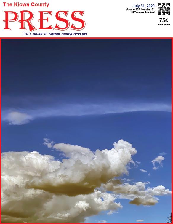 Photo of the Week - 2020-07-31 - Clouds over Kiowa County, Colorado.