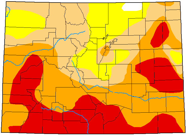 MAP Colorado Drought Conditions - July 28, 2020 - National Drought Mitigation Center