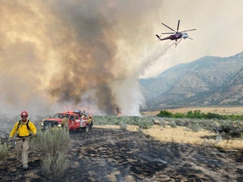 PICT Air operations at the Pine Gulch Fire August 10, 2020