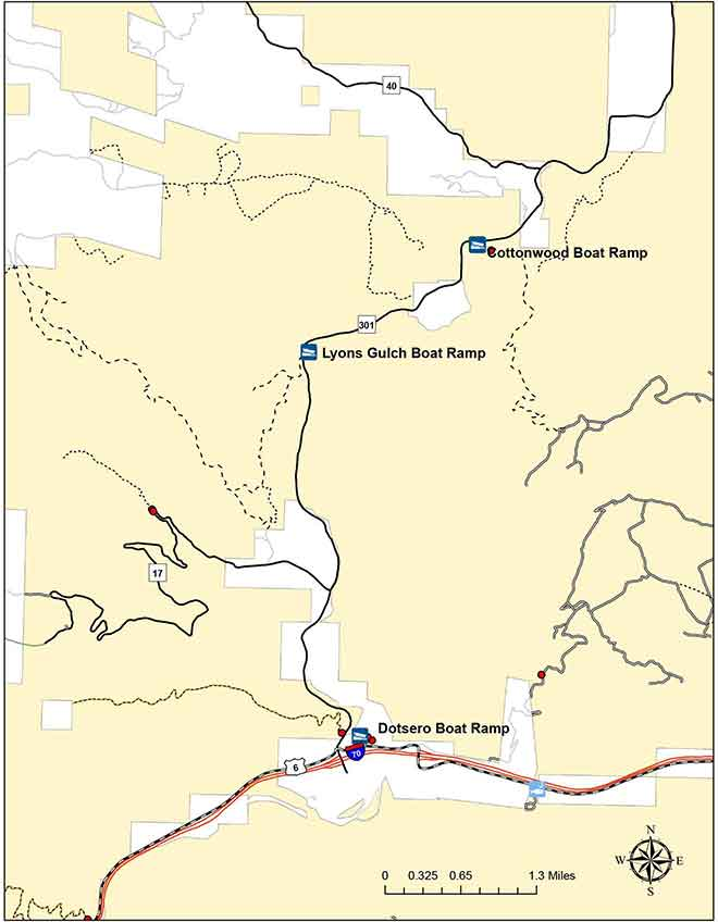MAP BLM recreation area closures due to the Grizzly Creek Fire