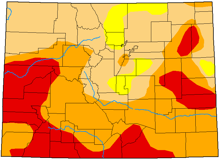 MAP Colorado Drought Conditions - August 11, 2020 - National Drought Mitigation Center