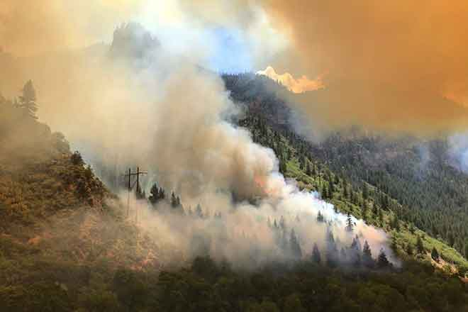 PICT Grizzly Creek Fire south of the Colorado River