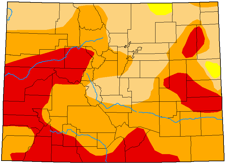MAP Colorado Drought Conditions - August 18, 2020 - National Drought Mitigation Center