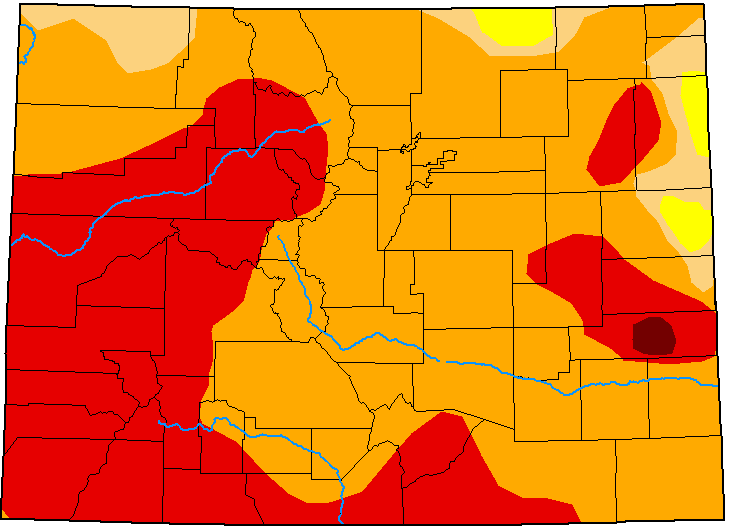 MAP Colorado Drought Conditions - August 25, 2020 - National Drought Mitigation Center