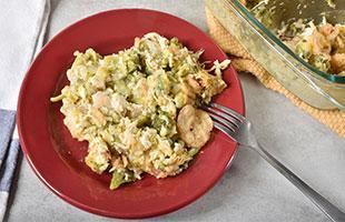 PICT RECIPE Cheesy Chicken Broccoli Rice Bake - USDA