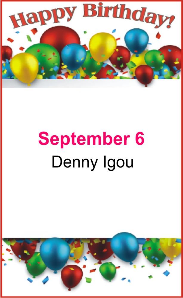 Happy birthday to Igou