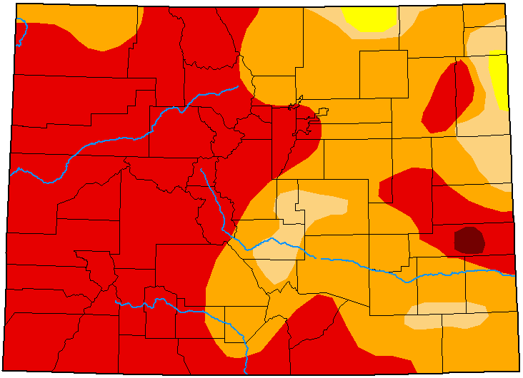 MAP Colorado Drought Conditions - September 8, 2020 - National Drought Mitigation Center